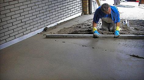 Betonvloer op zand met vloerverwarming